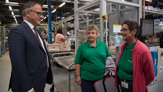 Travelogue: ECB Executive Board member Benoît Cœuré visiting Vorwerk factory in Cloyes-sur-le-Loir